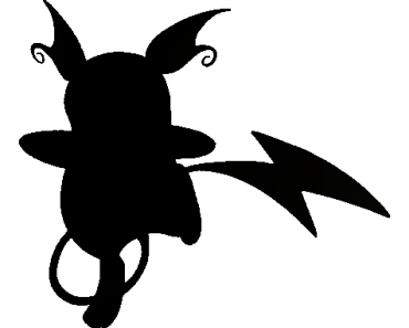 Pokemon Silhouette 026 Raichu