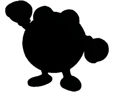 Pokemon Silhouette 061 Poliwhirl